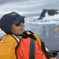 Debra Dascal in Antarctica.
