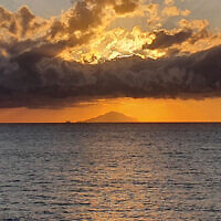 Diane Shonberg entered this sunset photo taken of a volcanic island off Sicily.