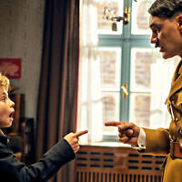 A scene from Jojo Rabbit with Taika Waititi as Hitler.