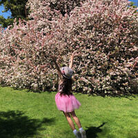 Leonie Szabo entered this photo of his daughter Vanessa jumping for joy in the gardens of Ripponlea, Melbourne