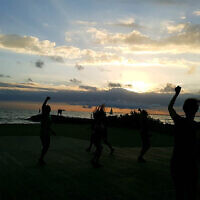Melissa Morris entered this photo of Zumba at Elwood Beach.