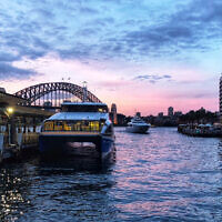 Michelle Hamberger entered this sunset photo taken at Circular Quay, Sydney.