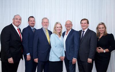 From left: Walt Secord, Mark Banasiak, Robert Borsak, Natalie Ward, Trevor Khan, Ron Hoenig and Dr Marjorie O'Neill. Photo: Giselle Haber