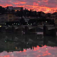 Natalie Cooper entered this sunset photo taken in Florence, Italy.