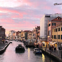 Natalie Cooper entered this sunset photo taken in Venice, Italy.