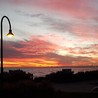 Peter Shonberg entered this sunset photo taken at Elwood Beach, Victoria.