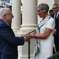President Reuven Rivlin and Victorian Governor Linda Dessau at Government House on Monday. Photo: Kobi Gideon/GPO