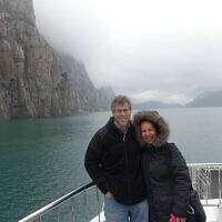 Ruth and Gary Trytell cruising through the Fjords in Norway.