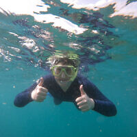 Shaanan Morris snorkelling in the Whitsundays