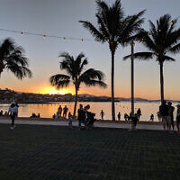 Susan Wise entered this sunset photo taken at Airlie Beach.