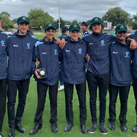 Jonah Trope, pictured second on the left, has made the Australian U16 boys' cricket squad.
