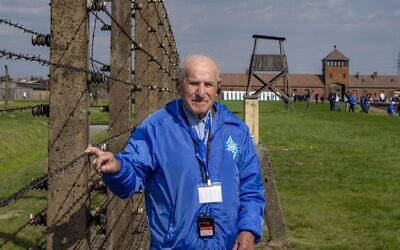 Shoah survivor Jack Meister was among the Australian March of the Living participants last year.