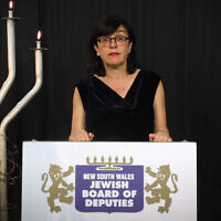 Fiona Harari spoke at the Yom Hashoah commemoration.