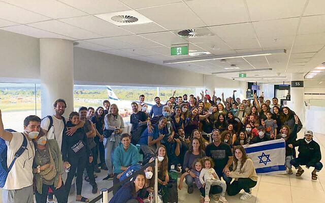 Passengers at Perth Airport.