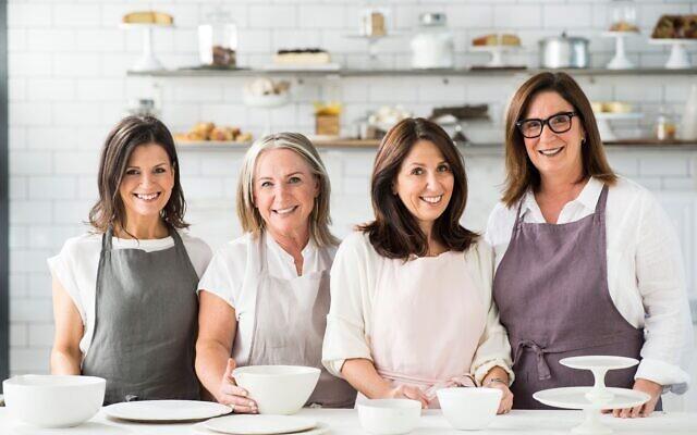 Monday Morning Cooking Club's Merelyn Frank Chalmers, Lisa Goldberg, Natanya Eskin and Jacqui Israel in the kitchen. Photo: Alan Benson