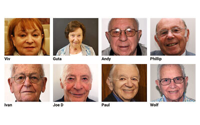 Some of the Holocaust survivor profiles on the JHC's website.