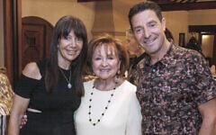 From left: Sharon, Fella and David Hamilton.