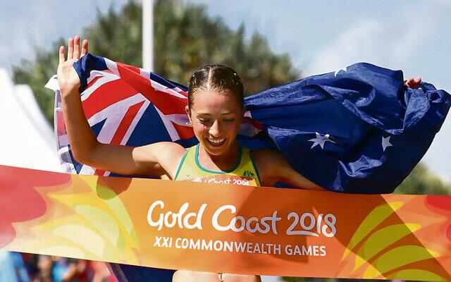 Race walker Jemima Montag will be a guest panellist in Maccabi Australia's Sport & Wellbeing in our Community webinar.