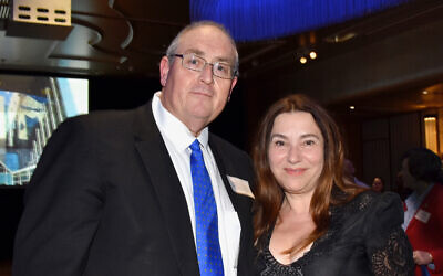 Walt Secord and fiancee Julia Levitina. Photo: Noel Kessel