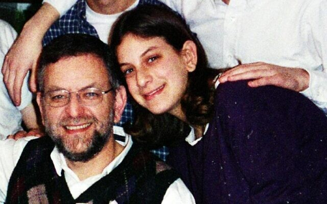 Malki Roth with her father Arnold Roth in January 2001.