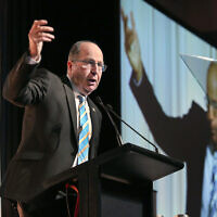 Moshe Ya'alon in Australia in 2016. Photo: Noel Kessel