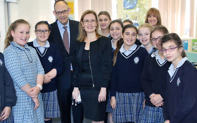 KTC principal Roy Steinman giving Vaucluse MP Gabrielle Upton a tour of the school in 2017. Photo: Noel Kessel