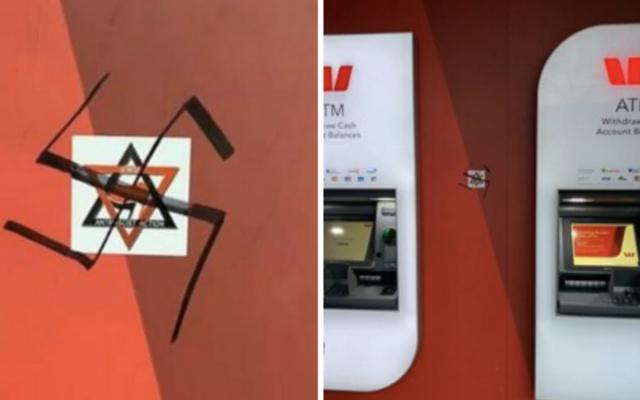 The vandalism on  Carlisle Street, Melbourne, on Tuesday.