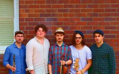 Musicians Joshua Druery, Matt Druery, Ben Adler, Oscar Gross and Paul Khodor. Photo: Joshua Marks, doco.TV