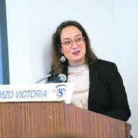 March 2020. WIZO Victoria. International Womens Day 2020. Gabi Crafti speaking. Photo: Peter Haskin