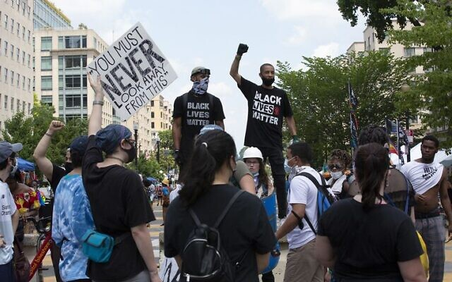 Black Lives Matter protesters in Washington DC last Saturday. Photo: Stefani Reynolds/CNP/Abacapress.com