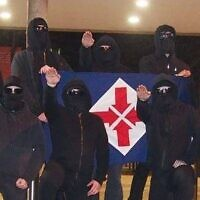 The neo-Nazis at Swinburne. Photo: Facebook