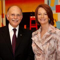 Mark Leibler and Julia Gillard. Photo: Peter Haskin