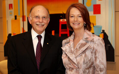 Mark Leibler and Julia Gillard. Photo: Peter Haskin