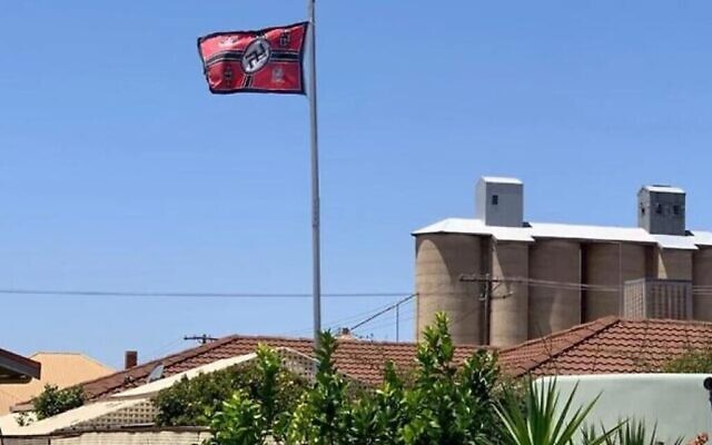 A Nazi flag flying in the Victorian town of Beulah earlier this year sparked renewed calls for a swastika ban.