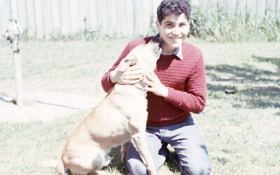 Peter Kohn at 15 with his dog Lucky. Photo: Ernst Kohn