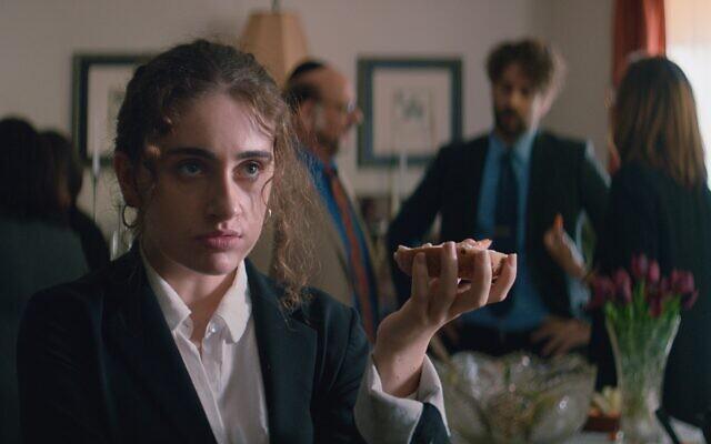 Rachel Sennott stars as college student Danielle in Shiva Baby, the debut film by Jewish director Emma Seligman.