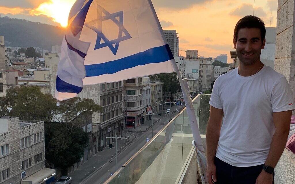 Australian Gili Bar celebrates Yom Ha'atzmaut in lockdown at home in Haifa.