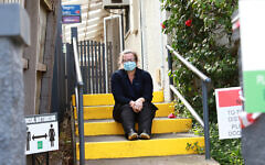 Nurse Linda Gore outside the private clinic she works at in Melbourne. Photo: Peter Haskin