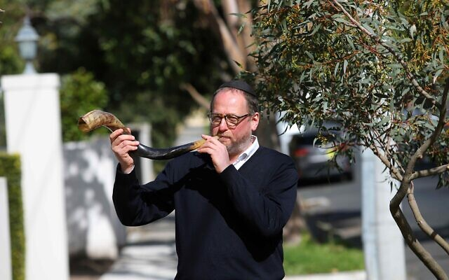 Rabbi Moshe Kahn will be one of a number of people blowing the shofar outside on second day Rosh Hashanah. Photo: Peter Haskin