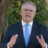 Prime Minister Scott Morrison gives a video address to the Jewish community in the lead-up to Yom Kippur.