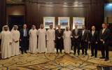 Dr Tal Becker (third from right) in Abu Dhabi earlier this month.