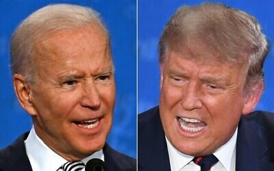 Joe Biden and Donald Trump. Photos: Jim Watson and Saul Loeb/AFP