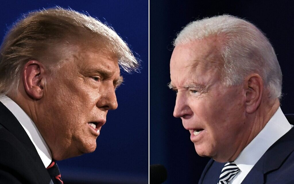US President Donald Trump and Democratic Presidential candidate Joe Biden. Photos: Jim Watson/Saul Loeb