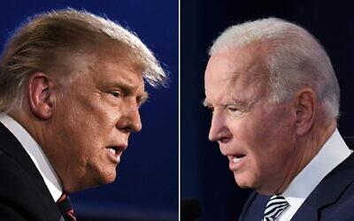 US President Donald Trump and Democratic Presidential candidate Joe Biden. Photos: Jim Watson/Saul Loeb