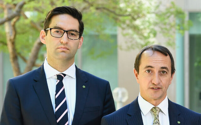 Labor MP Josh Burns and Liberal MP Dave Sharma. Photo: Auspic/DPS
