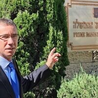 Israeli Prime Minister Benjamin Netanyahu's international media spokesperson Mark Regev. Photo: Twitter