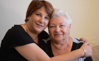 A resident and their carer at Amigour Sheltered Housing in Israel.
