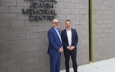Izzat Salah Abdulhadi (left) and Rabbi Elhanan Miller. Photo: ACT Jewish Community