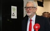 Britain's opposition Labour Party leader Jeremy Corbyn arrives at the count centre in Islington, north London, on December 13, 2019 as votes are counted as part of the UK general election. - The Conservative Party appeared on course for a sweeping victory in Thursday's snap election, an exit poll showed, pointing toward the best result for the Conservatives since 1987. By contrast, the exit poll spells disaster for the main opposition Labour party which was projected to win just 191 seats -- its worst result since 1935. (Photo by ISABEL INFANTES / AFP)