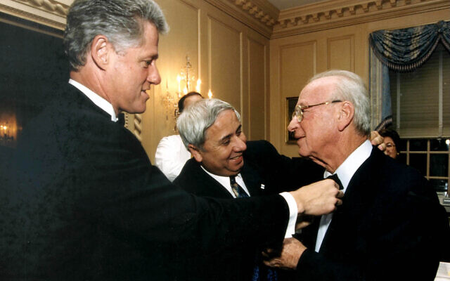 Curator's pick: A photo of Bill Clinton (left) and Yitzhak Rabin to feature in the Unity exhibition.